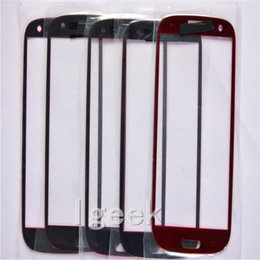 Wholesale Cell Phone Touch Lens - 100PCS Front Outer Touch Screen Glass Lens Replacement for cell phone Samsung Galaxy s3 i9300 i747 i545 free DHL