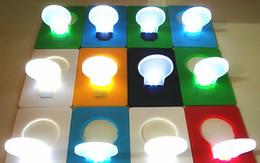 Wholesale Lamp Lighter - Led Flashlight Lighters New Portable Mini LED Card Light Pocket Lamp Put In Purse Wallet Flod Emergency Originality Slim Convenient Outdoor