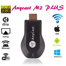 Wholesale Andriod Tv Stick - Anycast M2 Plus DLNA Airplay WiFi Miracast Dongle HDMI Multidisplay 1080P Receiver AirMirror Mini TV Stick ezCast For iOS Andriod Windows