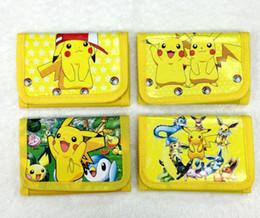 Wholesale Child Bags Purse - Poke go Pikachu canvas wallet bags 4 Style Children Poke Ball Sylveon Pikachu Charmander Bulbasaur Jeni turtle wallet coin purse B001