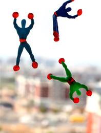 Wholesale Sticky Spider Man - 50PCS Climbing Spider Man Sticky Climbing Wall Superman Nostalgic Toys Funny Toys for Children Kids