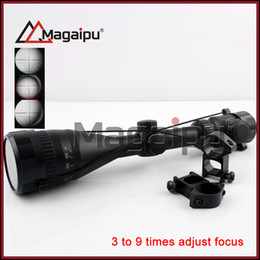 Wholesale Riflescope Mil Dot - magaipu telescopic sight 3-9X50AOE Red Green Dot Reflex SightOptical Riflescope Mil Dot Air Rifle Optics Sniper Deer Hunting Scope 20mm