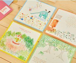 Wholesale Cute Korean Paper Envelope - Wholesale- 10 sets  lot Cute Cartoon Kawaii Animal Color Writing Paper and Envelope Set Korean Stationery Wholesale 03214
