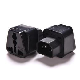 Up-kabel macht online-Großhandel 1PC 2500W schwarz Buchse auf Pro IEC 320 PDU USV C14 Stecker Power Adapter Converter