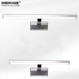 подходящее освещенное зеркало Скидка Горячая продажа LED белый акрил зеркало настенные светильник водить 10watt ванная комната настенный светильник современный настенный хром блеск продвигать доставка