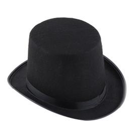 Atacado-Dia das Bruxas mágico chapéu mágico Jazz Black Hat Black Satin Cabo do Dia das Bruxas Roupas Para adultos # B725 de