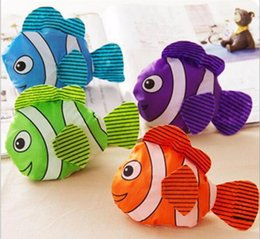 Wholesale Foldable Reusable Grocery Bags - New 5 Colors Tropical Fish Foldable Eco Reusable Shopping Bags 38cm x58cm Bag Fashion Accessories Grocery Bag