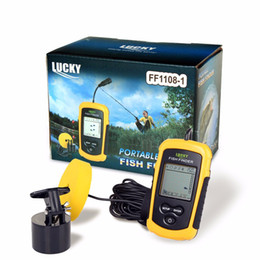 Wholesale Chinese Fish Finders - Lucky wired sonar Fish finder fishing gear visual fish detector max 100m depth 45° detect fishes alarm,sea river lake ice available