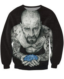 Wholesale Top Ink Tattoos - Wholesale-Women Men 3d Inked Heisenberg Crewneck Sweatshirt tattooed Breaking Bad Walter White Fashion Clothing Sport Tops Jumper Outfits