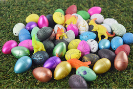 Wholesale Eggs For Hatching - Wholesale- 36PCS set Magic Water Growing Dino Egg Hatching Colorful Dinosaur Add Cracks Grow Eggs Cute Children Kids Toy For Boys