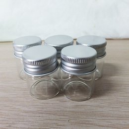 Wholesale Empty Small Plastic Bottles - 12g Small Round Empty Bottle for Cosmetic Cream Mini Travel Size Aluminium Jar Cream Sample Bottle Continer