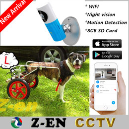 Wholesale Ip Camera Wireless Internet Card - Baby Monitor 720 Wifi IP Camera 8GB SD Card Recording Wireless CCTV Security Via Smart Phone With L Dog Wheelchair For Free