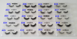 Wholesale Make Boxes - 13-16mm 1 Pair box OEM&Private Logo Acceptable Real 3D Mink Hair Fur Eyelashes Messy Eye lash Extension Sexy Eyelash Full Strip Eye Lashes