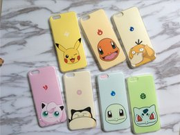 Wholesale Cute Iphone Covers Wholesale - 2016 New Cartoon cute Poke Go Pikachu Tpu soft Phone case cover for Iphone 5 6 6S 6 Plus
