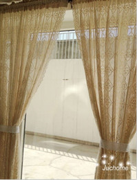 Wholesale X 135 - Single Panel Sheer Window Curtain Cotton Lace hollow-out crochet Sheer Curtain Treatment Rod Pocket Drape Mediterranean Style 4sizes