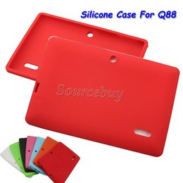 Wholesale Cheapest Inches Tablet Cover - Cheapest Multi-color Soft Silicone Silcion Case Protective Back Cover For 7 Inch Q88 Q8 Tablet PC Cases Free DHL Shipping 30pcs