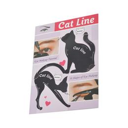 Canada 2 en 1 Cat Eyeliner Stencil Multifonction Eye Stencil Cat Modèle Carte Carte de maquillage Conseils de maquillage faciles Outils cheap eyeliner tip Offre