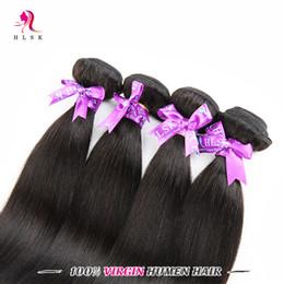 Wholesale Discount Hair Bundles - Big Discount 4 Bundles Straight Hair 7A Clearance Brazilian Remy Hair Unprocessed Straight Braiding Hair Double Weft 1B 4 Pcs