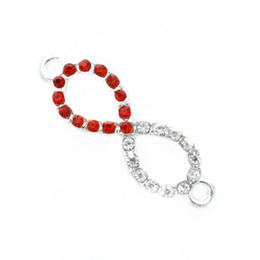 Wholesale Make Rhinestone Connectors - 10 Pcs Crystal Rhinestone Infinity Symbol Connectors Charms Finding For DIY Jewelry Making