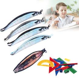 Wholesale Rare Fish - Real Fish-like Zipper Pen & Make-up Pouch Pencil Pen Case Funny Rare Storage Box Storage Box Cosmetics E5M1 order<$18no track