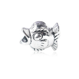 Wholesale European Fishing - Fish Alloy Charm Bead 925 Silver Fashion Women Jewelry Stunning Design European Style For Pandora Bracelet Necklace