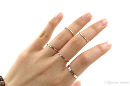 Wholesale Wholesale Two Finger Rings - Wholesale Korean Version Of The Two Articulation About Fine Glossy Titanium Steel Ring Female Index Finger Tail Ring 18k Rose Gold Plated Je