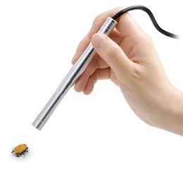 Endoscópio portátil on-line-Mini Portátil USB Microscópio Otoscópio Câmera de Vídeo Otoscópio 4 LED-200x Handheld USB Microscópio Digital Endoscópio Lupa Otoscópio Ampliador