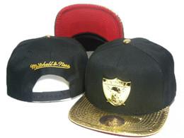 Wholesale Mitchell Ness Football Hats - New Style metal logo mitchell & ness snapback hats for men team hats snapbacks hip hop football caps basketball snapback hats DDMY