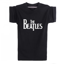 Wholesale Guitar Black Yellow - Wholesale-2016 New the beatles Rock and roll Funny T-shirt Men Humor Casual Printed College Mens The guitar HipHop Short Sleeve T Shirt