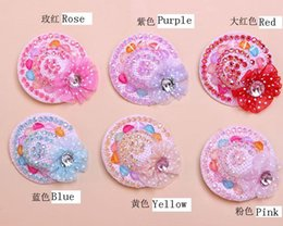 Wholesale Hairpins Teddy - Dog Pets Clothes And Accessories Baby Used clothes Accessories Teddy Flower Hat Hairpin Diamond Tiara Pet Shop PES3057