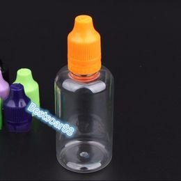plastikflasche Rabatt Großhandelspreis vape flasche PET 50 ml klar kunststoff e-flüssigkeit flasche mit manipulationssicheren kappe und lange dünne spitze Dhl-freies Verschiffen