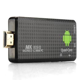 Wholesale Hdmi Android Mini Pc Stick - Hot selling MK809III Android 5.1 Mini PC RK3229 Quad Core 2GB 8GB Full HDMI 1080p HDMI bluetooth TV Dongle Stick