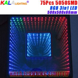 Wholesale active dual - Wedding Party Disco 3D Effect LED Dance Floor SMD5050 RGB 3in1 Infinite Dual Abyss Mirror Colorful Dance Floor