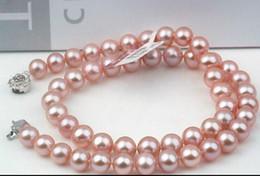 rosario di cristallo bianco Sconti Collana in oro 9-10mm con perle di lavanda rotonde del Sud del Sud. Accessori in argento da 20 pollici S925