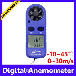 Wholesale Hot Wire Anemometer - hot wire anemometer industrial and home purposes measuring wind speed and temperature air meter MOQ=1 free shipping