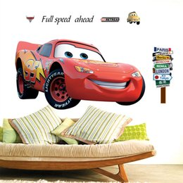 Wholesale 3d Wall Surfaces - 2016 New! Hot Sale Cartoon Car Wall Sticker Home Decoration Removable DIY 3D Wall Stickers  Kid Room Wallpapers Wall Sticker