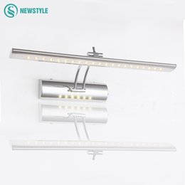 Wholesale Mirror Light Wall Lamp - Modern wall light with switch led mirror light bedroom lamp of stainless steel wall mounted outdoor garden wall lamp night light