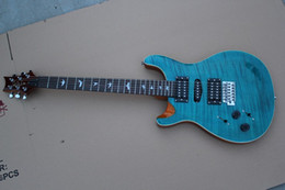 Wholesale Guitar Birds - Free Shipping Reed smith custom Electric Guitar,sea tiger blue S guitar with inlay birds fingerboard,Chrome hardware