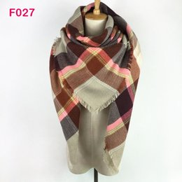 Wholesale Red Plaid Wool Blanket - Hot!!! More Than 142 Colors Za Fashion new Design Spring Autumn Winter Women Plaid Wrap StoleS Blanket Scarf Shawl Poncho Pink