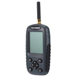 Wholesale Sensor Fish Finder - Wholesale-FF998 Portable Fish Finder High Quality Rechargeable Smart Fish Finder Pro Black Wireless Fish Finder Sonar Sensor Echo Sounder