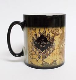 Wholesale Temperature Changing Mugs - Wholesale-Free shipping!1Pcs Harry Potter Marauders Map Magic Hot Cold Heat Temperature Sensitive Color-Changing Coffee Tea Milk Mug Cup