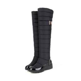 455860bd829 Discount patent flat over knee boots - 2016 new arrive high quality keep  warm snow boots
