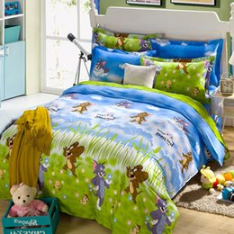 Wholesale Purple Rose Quilt Cover Set - Wholesale-Cotton Kids Bedding set,Cartoon Duvet cover set Child Bedclothes,Tom and Jerry,Contain 1 Quilt cover 2 Pillowcase#DP1511