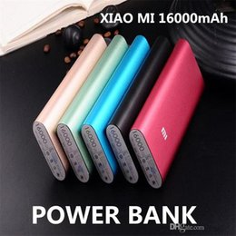 Wholesale External Cell Battery Charger - Xiaomi Mi 16000mAh Power Bank Portable Emergency Battery External Chargers Samsung Galaxy Powerbanks Cell Phones power banks Powerbank
