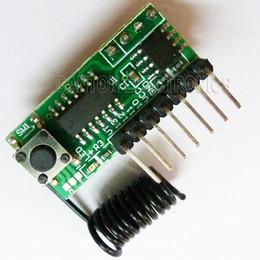 2019 module de relais unique Universal Learning sans fil Super régénération 433MHZ Modules fixes décodeur Les récepteurs peuvent apprendre et stocker 20 pièces différentes téléco code