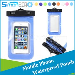 Wholesale Shower Water Bags - Shower swimming Waterproof Case Pouch skin Diving Bag case outdoor Cover for Samsung Galaxy S5 S6 S7 note3 iPhone 4 5 6 6plus