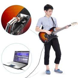 Wholesale Guitar Instrument Cables - 3m Guitar Bass 1 4'' 6.3mm Jack To USB Connection Instrument Cable Adapter GSCP2363