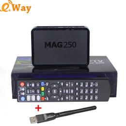 Wholesale Network Tv Box - Mag250 Linux System OTT Arabic TV Box Network Wifi IPTV Set Top Box STB Mag250 DLAN M3U Mag 250 Media Player
