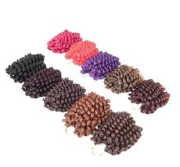 Wholesale-New Arrival 2X Value Model Model Jumpy Wand Curl Twist Janet Crochet Marley Twist Bounce Braid Hair Extension t 2X Havana Mambo Coupons