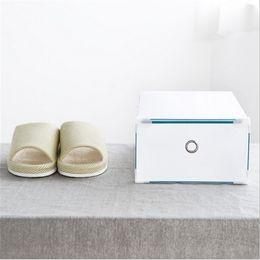 Wholesale Transparent Shoes Men - DIY Drawer-type Storage Shoe Box Men and Women Plastic Transparent Crystal Shoes Organizer Perfect Home Storage